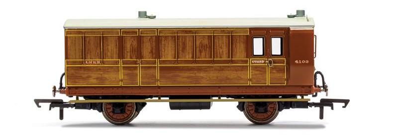 882-Era 2 Coach Hornby R40070 LB/&SCR Red 4 Wheel 3rd Class